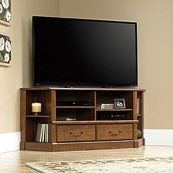 Amazon.com: Sauder Palladia Corner TV Stand in Cherry: Home Audio ...