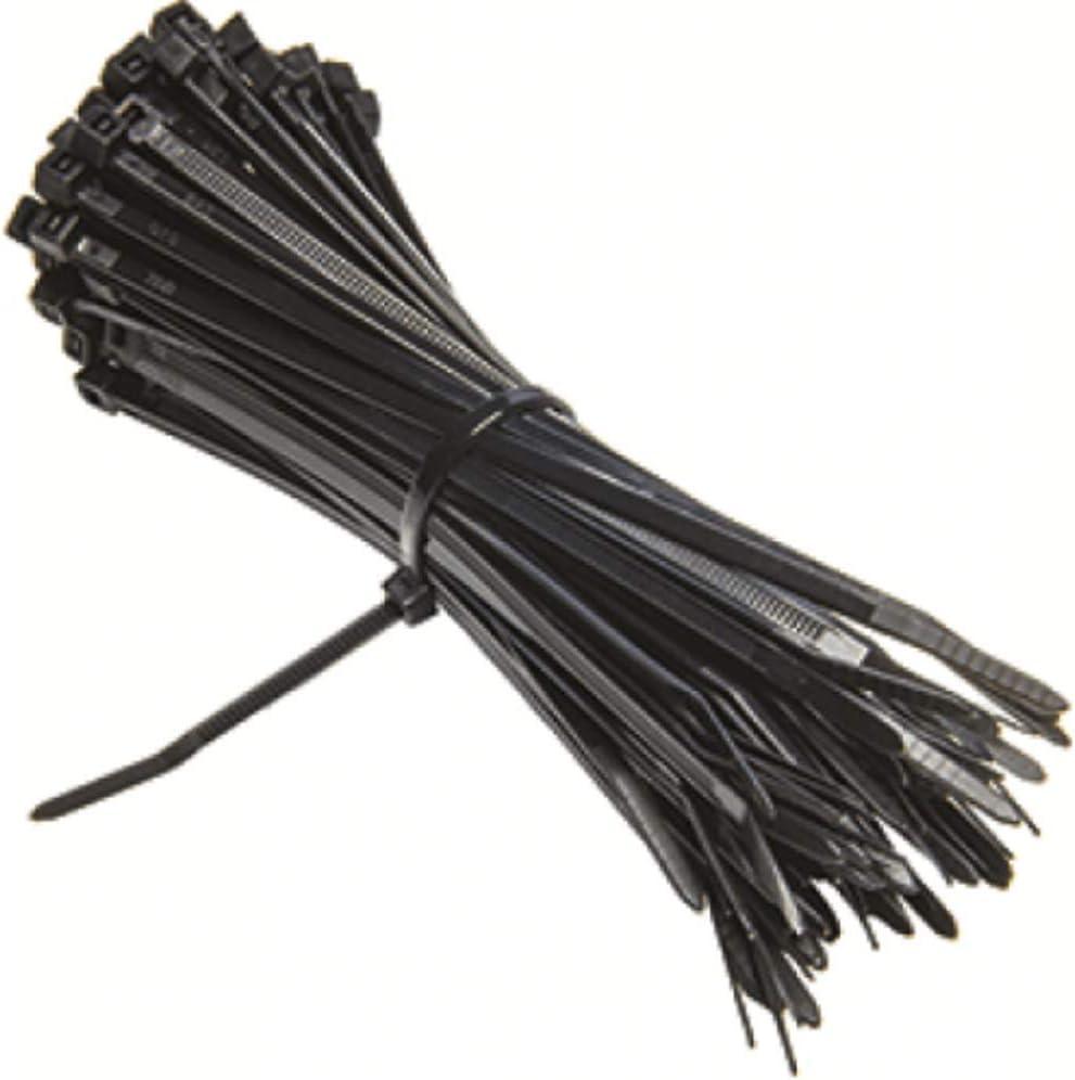 100 mm//150 mm//200 mm//250 mm//300 mm EXCALIBUR Heavy Duty Negro Cable Tie Zip Ties Nylon Pl/ástico 100 unidades