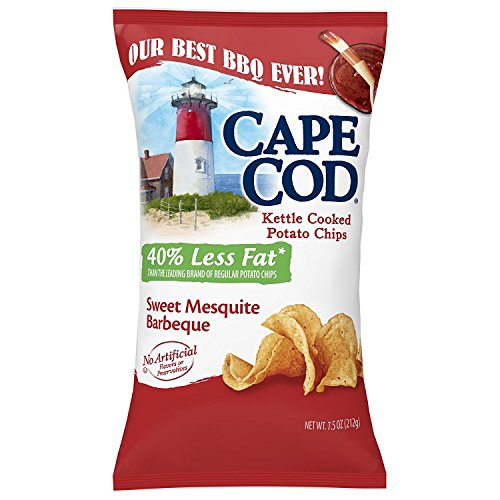 - Cape Cod Potato Chips, Reduced Fat Sweet Mesquite Barbeque, 7.5 Ounce