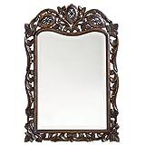 Large Bathroom Mirror with Shelves Howard Elliott 4085 St. Augustine Mirror, French Brown