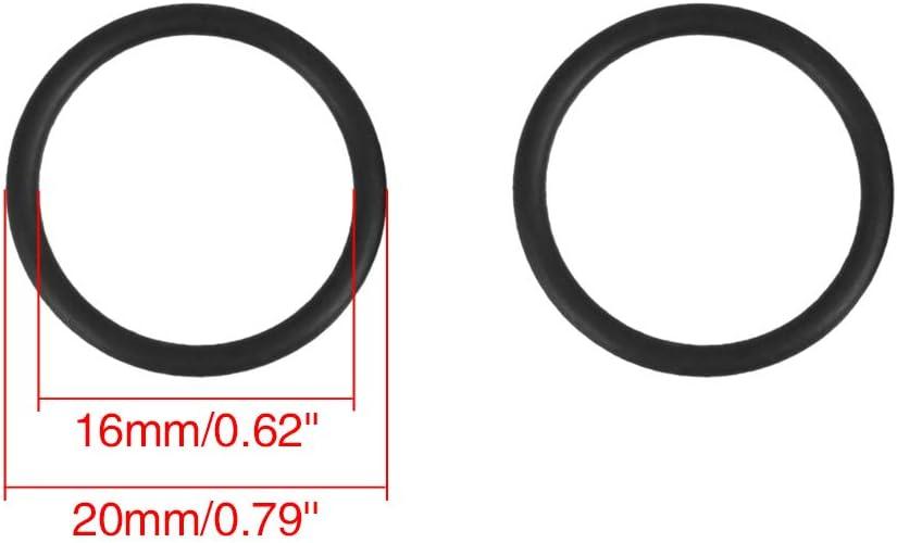 X AUTOHAUX 100pcs 20mmx2mm Joint Torique R/ésistant Chaleur Scell/é Anneau Joints pour Voiture