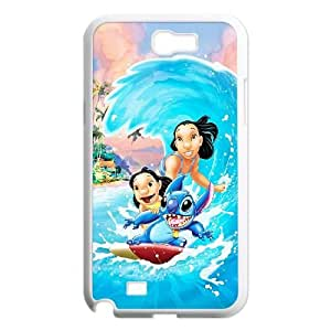 Disneys Lilo and Stitch Samsung Galaxy N2 7100 Cell Phone Case White Phone cover O7525513