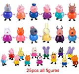 iphone 6 trade in program - Peppa Pig Playset Cute Family and Friends 25 Mini Figure Pack 3 Inch - 3.5 Inch. Peppa, George, Mummy and Daddy Pig and More