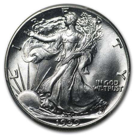 1939 Walking Liberty Half Dollar Brilliant Uncirculated .50 90% Silver US Coin MS/BU Fifty Cents