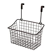 Spectrum 56224 Over The Cabinet Door Grid Basket, Medium, Bronze