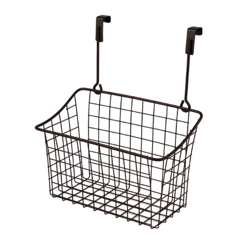 Spectrum Diversified Grid Storage Basket, Over the Cabinet, Medium, - Com Locations Spectrum