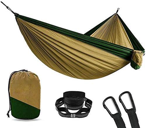 ShAwng Acampar al Aire Libre Hamaca Jardín Aventura Deportes Casa Viaje Cama Colgante Doble 2 Personas Ocio Viajes Paracaídas Hamacas, Caqui Verde Oscuro: Amazon.es: Hogar