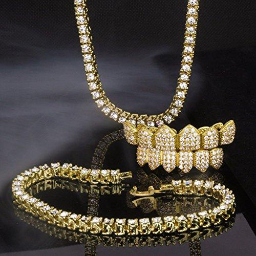 14K Gold Plated Lab Diamond 18