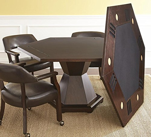 Steve Silver Morris Reversible Game Table in Medium Cherry by Steve Silver