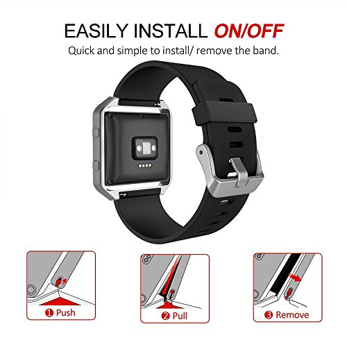 Fitbit Blaze Bands with Frame, Simpeak Silicone Replacement Band Strap with Frame Case for Fit bit Blaze Smart Fitness Watch