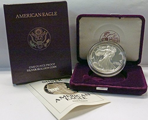 - 1991 S American 1 oz. Silver Eagle Dollar Proof US Mint