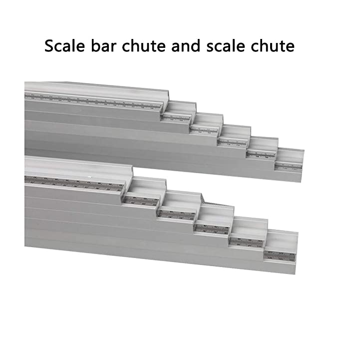 Laecabv 45 Type 600mm T-Tracks T-Slot Miter Track Stop Chute Stopper for DIY T-Slot T-Tracks Router Table Woodworking Tool