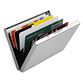 Magicmoon Tarjetero de Crédito ultra fino Aluminio Metal Cartera - RFID El bloqueo Titular para Hombres y ...