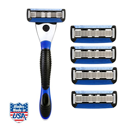 Spruce Shave Club 5X Shave Set (1 Razor Handle + Pack of 4 Cartridges)