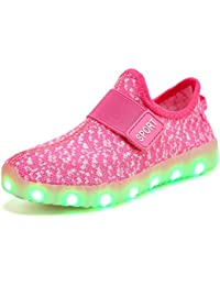 Kids Boys Girls Breathable LED Light Up Flashing Sneakers...