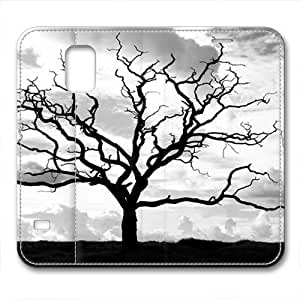 Samsung S5 leather Case,Samsung S5 Cases ,Waiting for spring trees Custom Samsung S5 High-grade leather Cases