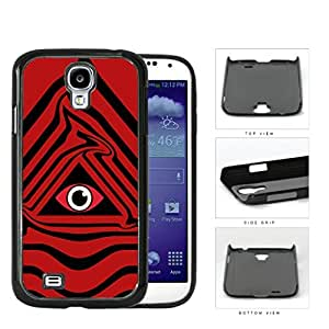 Eye Of Providence Illuminati Symbol Red Hard Plastic Snap On Cell Phone Case Samsung Galaxy S4 SIV I9500