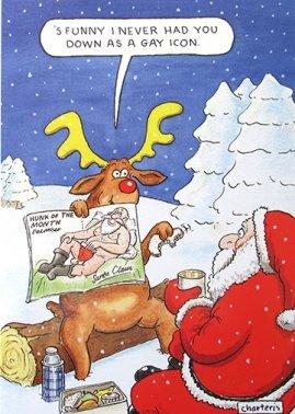 santa claus cartoon christmas Gay