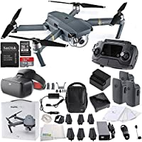DJI Mavic Pro FLY MORE COMBO Collapsible Quadcopter + DJI Goggles Virtual Reality VR FPV POV (Racing Edition) Experience Bundle