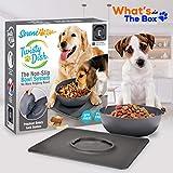 Non Skid Pet Bowl Set - No Flip Dog Bowl Dog
