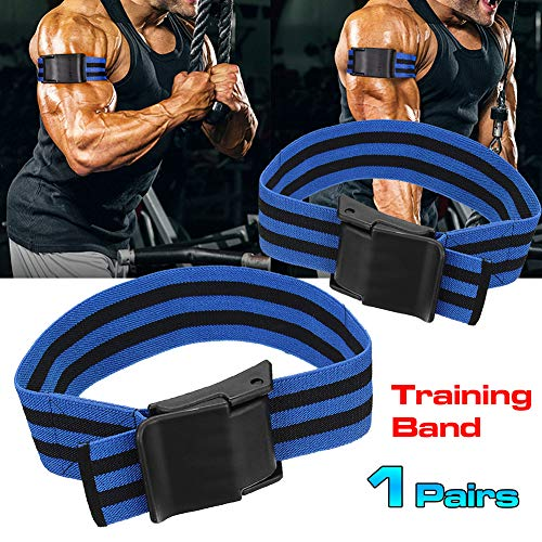 CHoppyWAVE 2pcs Occlusion Muscle Training Bands, Muscle Traing Belt for Blood Flow Restriction Fitness Gym Arm Strap
