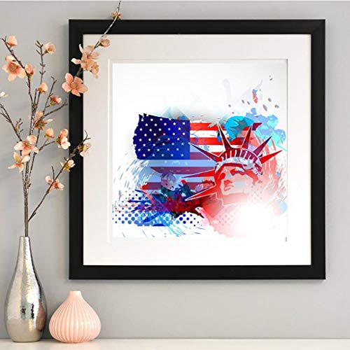 Beyonds 5D Diamond Painting Kits for Adults Kids Set Cup -American Independence Day USA 4th of July Full Drill Diamond American Flag for Home Wall Decor Pictures Arts Craft F