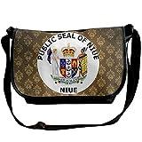 Lov6eoorheeb Unisex Coat Of Arms Of Niue Wide Diagonal Shoulder Bag Adjustable Shoulder Tote Bag Single Shoulder Backpack For Work,School,Daily