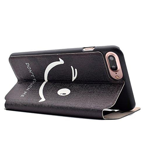 Voguecase® Pour Apple iPhone 7 Plus 5,5 Coque, Fenêtre Étui en cuir synthétique chic avec fonction support pratique pour Apple iPhone 7 Plus 5,5 (touch me 02)de Gratuit stylet l'écran aléatoire univer