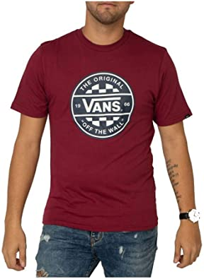 Vans Camiseta Checker CO. II Rhumba Red XL: Amazon.es: Ropa y accesorios