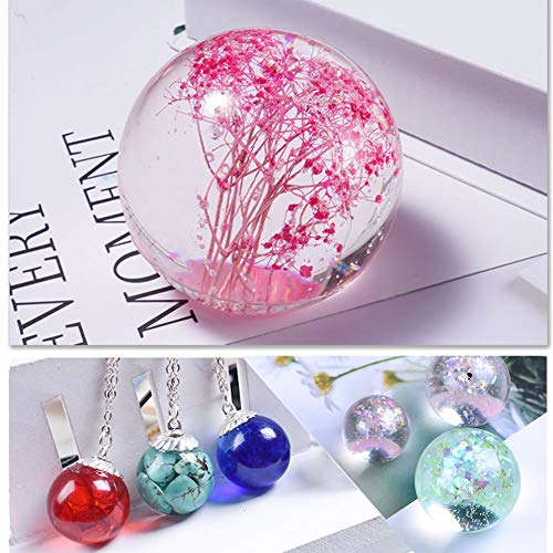 Jatidne Resin Molds Sphere for Jewelry Casting Molds Silicone Molds for  Resin Casting Kit Epoxy Resin Molds DIY Craft