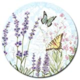 CounterArt Herb Garden Lazy Susan Glass Serving Plate