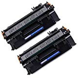 Office World 05A CE505A Compatible Toner Cartridge Replacement for HP 05A CE505A (Black, 2-Packs),Work with LaserJet P2035 P2055dn P2035n P2055d P2055x