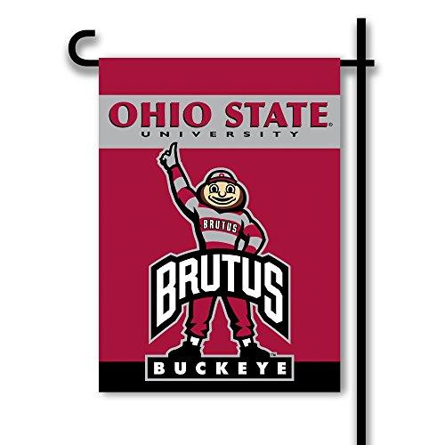 NCAA Ohio State Buckeyes 2-Sided Garden Flag, Team Color, On
