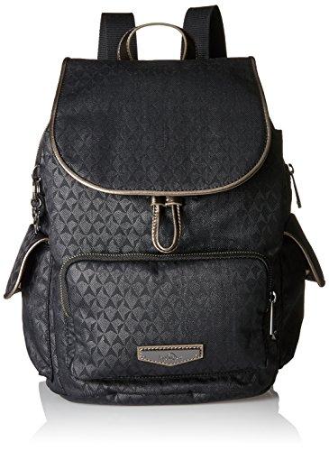 KiplingCity Pack S - Zaino Donna Nero (Black Ink Emb)
