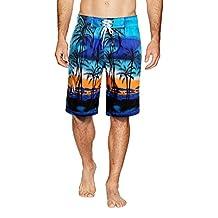 APTRO Men's Swim Trunks Adjustable Drawstring Board Shorts