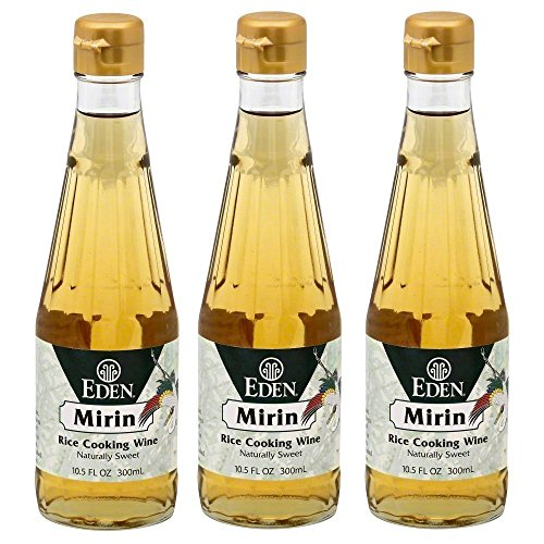 Eden Foods Mirin Rice Cooking Wine 3 Pack Value Deal - Mirin Cooking Wine