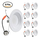 6 inch (5 Inch Compatible) 1050 /Highest Lumens retrofit dimmable (4000K - Cool White, 8 Pack)