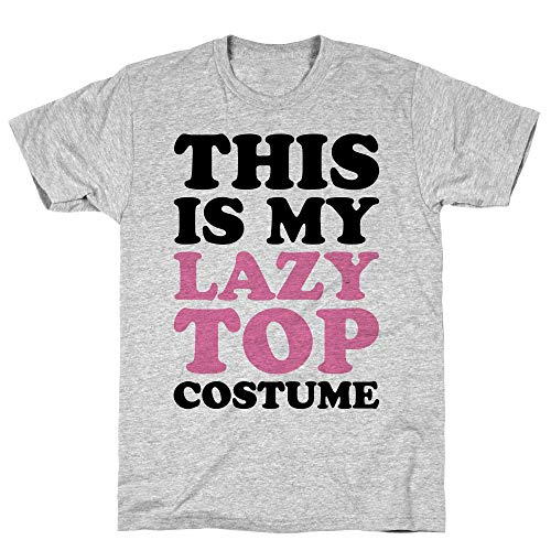 LookHUMAN This is My Lazy Top Costume XL Athletic Gray Men's Cotton -