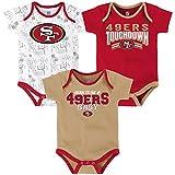 "NFL Infant ""Playmaker"" 3 Piece Onesie Set-Crimson-12 Months, San Francisco 49ers"
