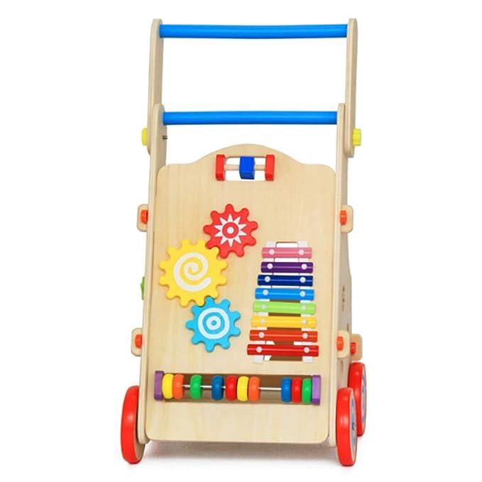 Walker bebé Carro for niños con ruedas for niños Caminata de ...