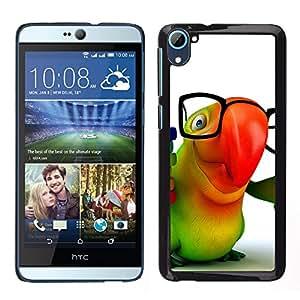LECELL--Funda protectora / Cubierta / Piel For HTC Desire D826 -- Amistoso lindo loro --