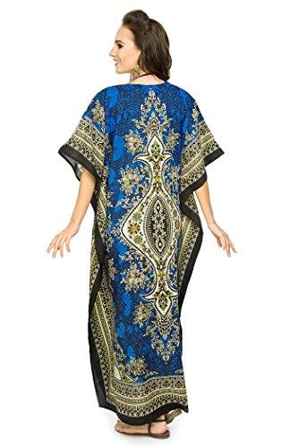 c9cd9515046ae4 ... Neu Damen überdimensional Maxi Kimono Kaftan Tunika Kaftan Damen Top  Freie Größe Blau - 007 M3yNgmHv