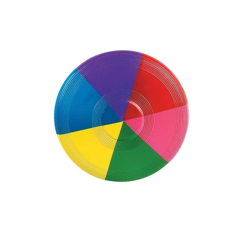 12//1682 Fun Express Mini Rainbow Flying Discs 1 dz
