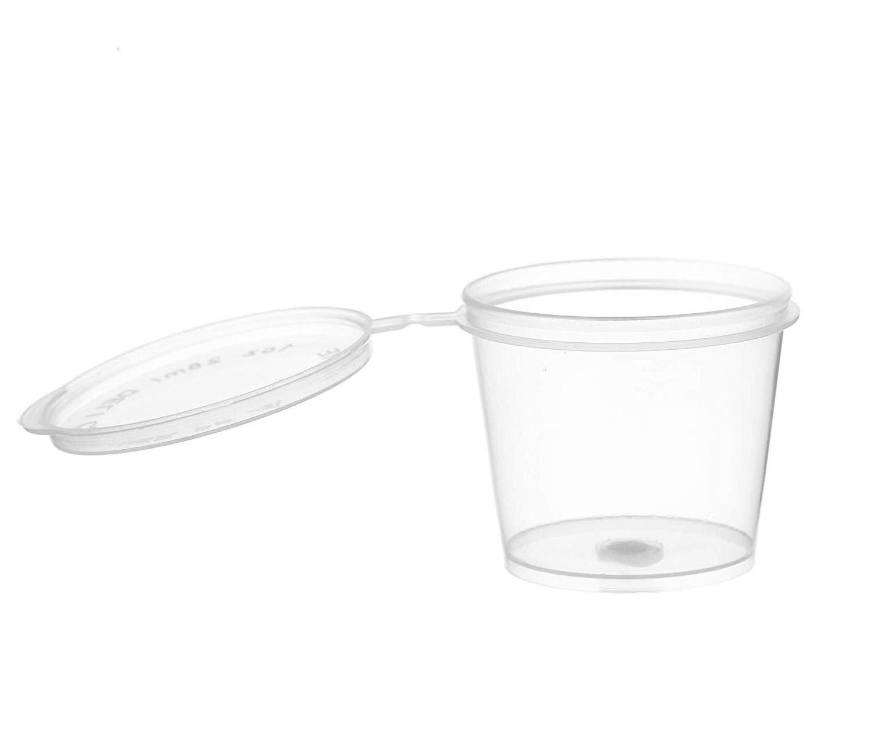 INTVN Slime Aufbewahrungsbehälter, 50 Stück Floam Beads Behälter aus Schleim Auslaufsicher Durchsichtigen Kunststoff Aufbewahrungsschleim mit Deckel
