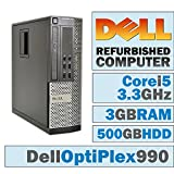 Dell OptiPlex 990 SFF/Core i5-2500 Quad @ 3.30 GHz/DVI Graphics Card/3GB DDR3/500GB HDD/DVD-RW/No OS