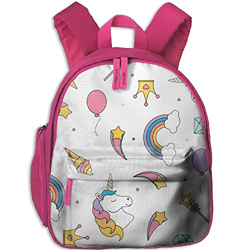 Unicorn Pattern Kid School Bag For 3-6 Years Old Children ShoulderBackpack Pink For Boys And Girls