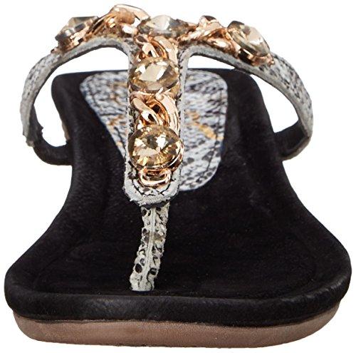 Black Renee Women Jave Wedge Sandal White J qB4TXxq