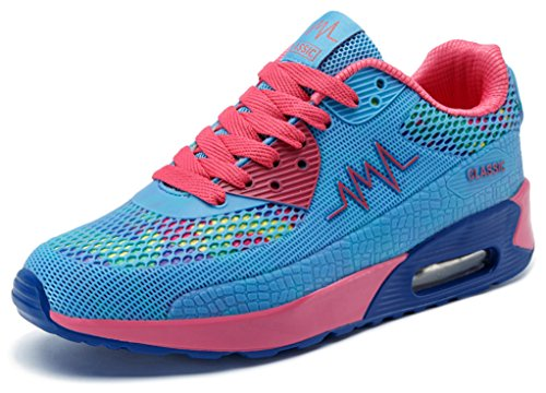 Ausom Women's Air Max Fashion Breathable Casual Sneakers Running Shoe Blue