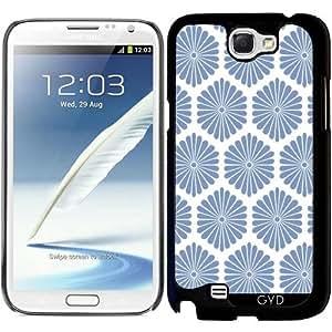 Funda para Samsung Galaxy Note 2 (GT-N7100) - Flores Azules by wamdesign