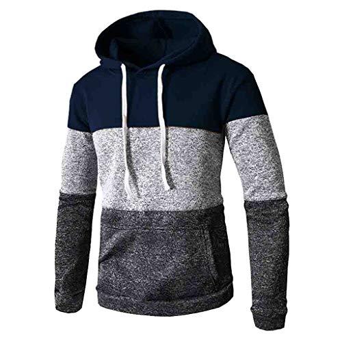 Toimothcn Mens Camouflage Hoodies Sweatshirts Casual Slim Fit Zip Hooded Pullover Blouse Top (Navy,XL)